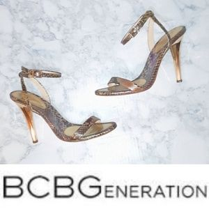 BCBG Generation | Snakeprint Sandal Heels